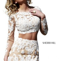Sherri Hill 21371 Long Sleeve Short Prom Dress