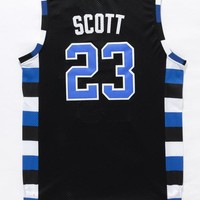 Best Deal Online One Tree Hill Ravens Basketball Jerseys #23 Nathan Scott Black