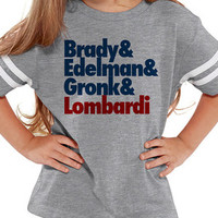 Brady and Edelman and Gronk and Lombardi Kids Patriots Tee Jersey   Customized NFL Shirts   Matching Football Shirts   New England Patriots - Edit Listing - Etsy