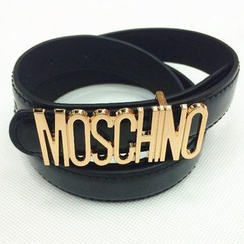 Moschino Letters Trendy Fashion Candy Belt F