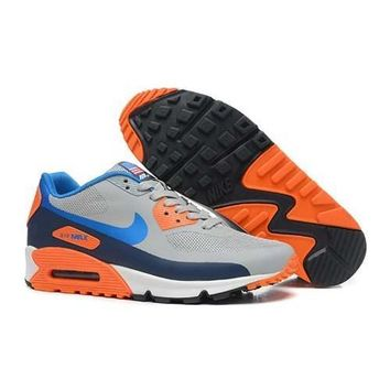 Men s Women s Nike Air Max 90 American Flag Gray Orange Shoes