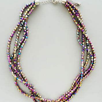 Aural Titanium Beaded Necklace