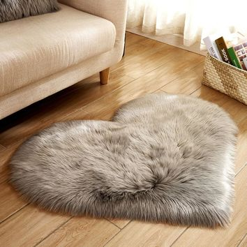 Wool Imitation Sheepskin Rugs Faux Fur Non Slip Bedroom Shaggy Carpet Living Room Mats Tapis round rug alfombras Q3
