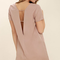 Mumbai the Way Mauve Shift Dress