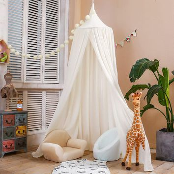 Kids Crib Netting Play Tent Children Hanging Teepees Tipi Mosquito Net For Boys & Girls Play House For Kids Baby Room Decoration