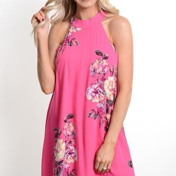 Hot Pink Floral Sundress