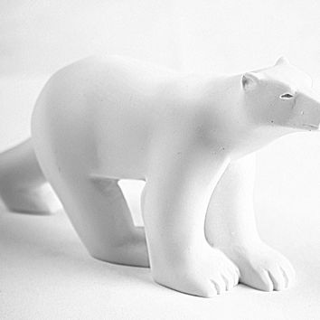 Pocket Art Pompon Polar Bear Miniature Statue 4.5L