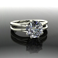 Forever Brilliant Moissanite Engagement Ring 2.5 CT