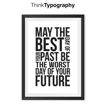 "Motivational Wall Decor Typography Poster ""Future"" Wall Decor Inspirational Print Home Decor Winter Gift New Year Resolution Wedding Gift"