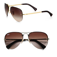 Ray-Ban: Metal Aviator Sunglasses