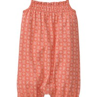 Gap Baby Smocked Print One Piece Size Up To 7lb - miami coral