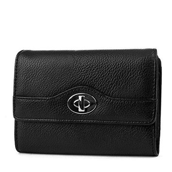 Mundi Small Womens RFID Blocking Wallet Compact Trifold Safe Protection Clutch With Change Purse