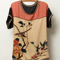 Chinoiserie Bird Top
