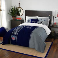 Dallas Cowboys NFL Full Comforter Set (Soft & Cozy) (76 x 86)