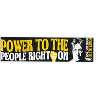 John Lennon - Power to the People Bumper Sticker on Sale for $0.99 at HippieShop.com