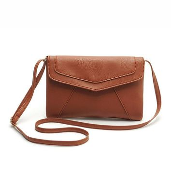 PU leather Women Envelope Messenger bags Slim Crossbody Shoulder bags Handbag Small Cross body bags Satchel Ladies Purses