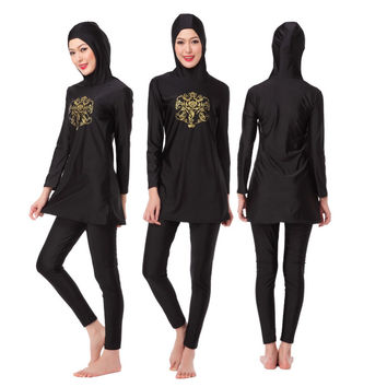 Woman Muslim Swimwear Hijab Bathing Suit