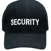 9282	Black Security W/White Logo Cap