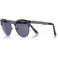 Dark grey cat eye retro sunglasses