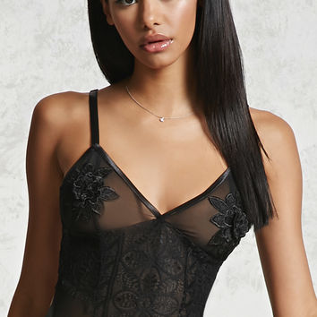 Chantilly Lace & Mesh Bodysuit