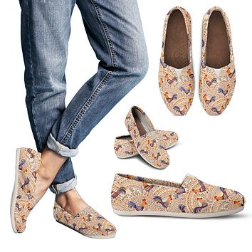 Bohemian Rooster Casual Shoes-Clearance