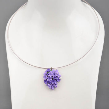 Handmade Jewelry Design Ideas handmade jewelry 9 Handmade Necklace With Polymer Clay Flowers Pendant Jewelry Desi