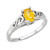 Precious Gift™ Youth Birthstone Ring - Sterling Silver & Citrine