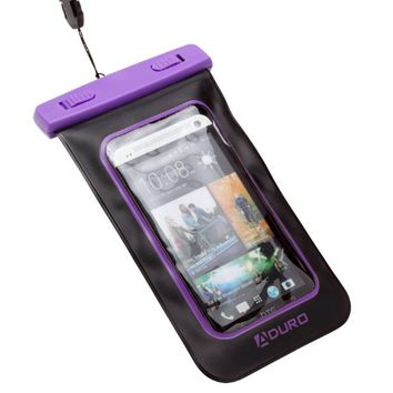 """Aduro Sport Waterproof Case/Bag for Smartphones with Audio Out """"Lifetime Warranty"""" for Apple iPhone 4 / 4S / 5 / 5S / 6, Samsung Galaxy S4 / S5 / S6, Edge, iPod Touch, HTC ONE X, LG NEXUS (Retail Packaging) (Blue)"""