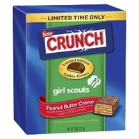 Nestle Crunch Girls Scouts Peanut Butter Creme Candy Bars 7.8 oz