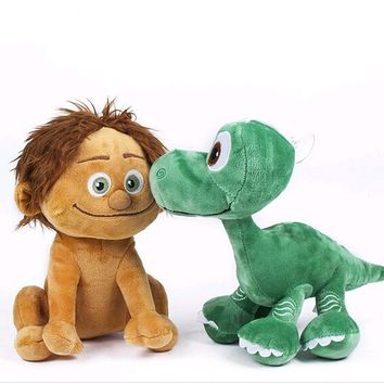 NEW 22cm pixar The Good Dinosaur 2017 arlo Spot Dinosaur Arlo Plush toys Doll Stuffed kids toys brinquedos gift free shipping