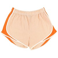 Shorties Shorts in Orange Seersucker by Lauren James - FINAL SALE