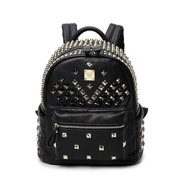Back To School Comfort College On Sale Hot Deal Casual Ladies Bags Korean Rivet Stylish Backpack [4915437252]
