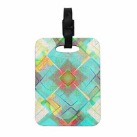 "Cvetelina Todorova ""Blue Sound"" Teal Yellow Decorative Luggage Tag"