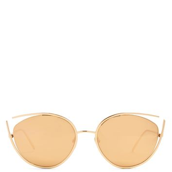 Cat-eye mirrored gold-plated sunglasses | Linda Farrow | MATCHESFASHION.COM UK