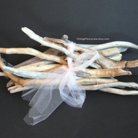 Bundle of 12 Pcs Drift Wood Branches, 11 to 16 Inches, Craft Supplies, Natural Decor, Bulk Lot