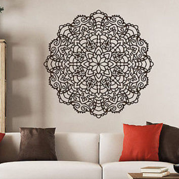 Mandala Wall Decal Ornament Geometric Indian Moroccan Pattern Namaste Yoga C68