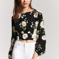 Floral Tie-Back Top