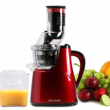 New Century® Red Slow Masticating Juice Extractor