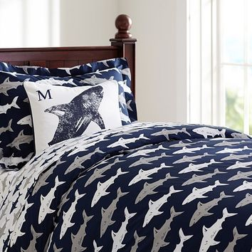 Preppy Shark Duvet Cover