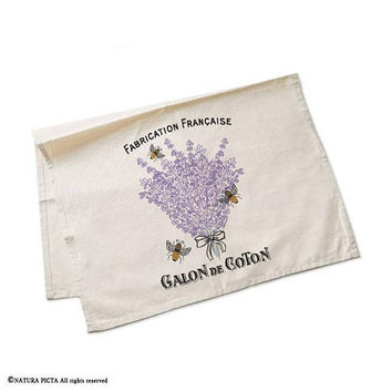 Lavender flower tea towel-lavender kitchen towels-french tea towel-custom tea towels-flour sack towel-botanical tea towel-NATURAPICTA-TWNP10