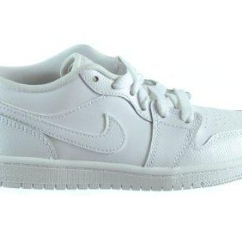 Jordan 1 Low (PS) Little Kids Basketball Shoes White/White 644475-122