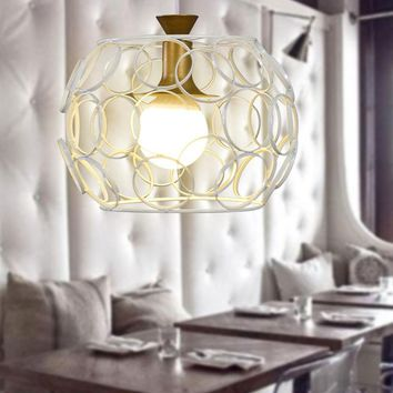 Industrial Chandelier - Hollow Sphere With Circle Edges