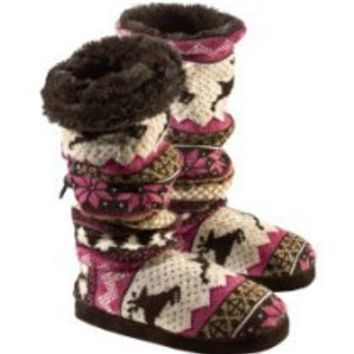Legendary Whitetails Leaping Deer Nordic Muk Luks Slipper Boots