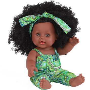 African Play Dolls Lifelike 12 inch  For Kids