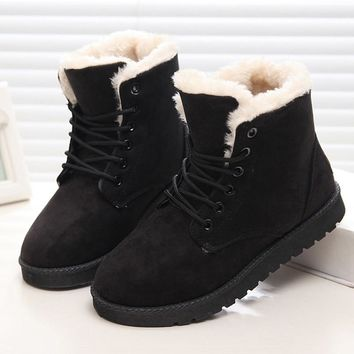 2017 Brand Women Boots Shoes Woman Footwear Fashion Women's Winter Shoes ankle boots for women Snow Boots Black