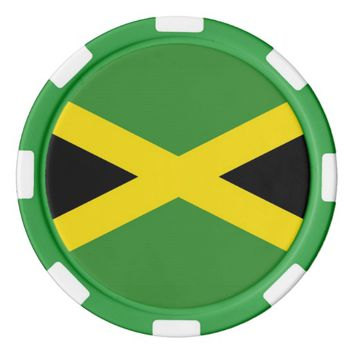 Poker chips with Flag of Jamaica