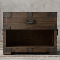 "Heirloom Silver-Chest 32""Open Nightstand"
