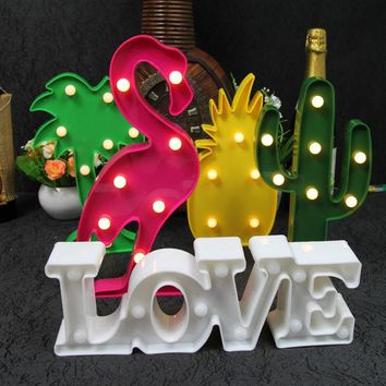 Unicorn Flamingo LED Night Light Baby Shower Home Wedding Party Decoration Star Heart Pineapple Christmas Tree 3D Desk Lamp,8