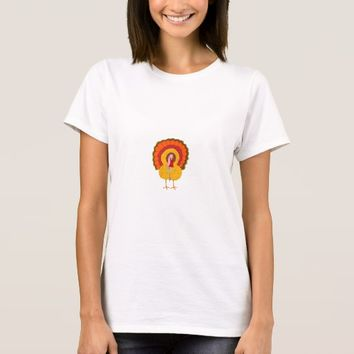 Turkey Design on Women's' T-Shirt