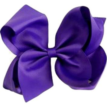 Grosgrain Boutique Hairbow, Purple